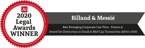 business law award for the french lawyers billand & messie